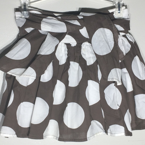 MINI BODEN brown Polka Dot Skirt Size 5-6
